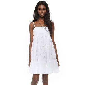 NWT Club Monaco White Embroidered Villy Dress